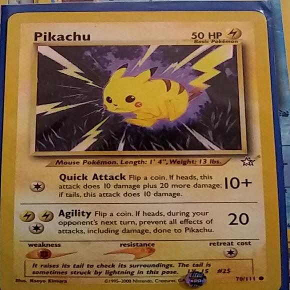 Pokemon Other Pikachu Card Poshmark